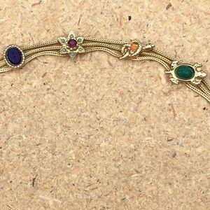 Vintage signed Goldette Slide Bracelet
